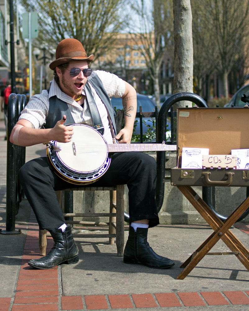 People of Downtown Eugene — Banjo Youngblood
