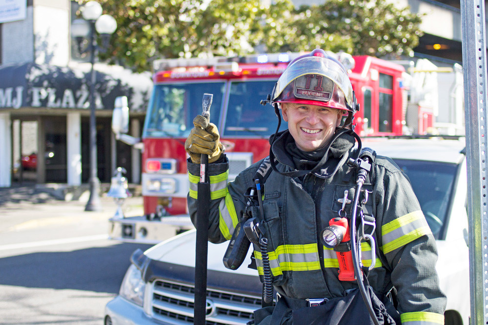 People of Downtown Eugene — Firefighter