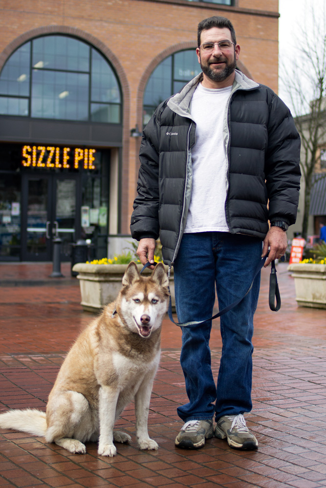 People of Downtown Eugene — Walking with Mocha