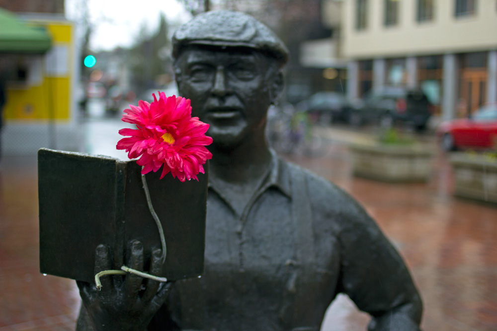 People of Downtown Eugene — Kesey with flower