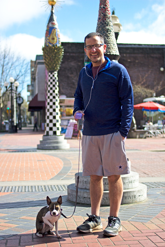 People of Downtown Eugene — Walking with Posey